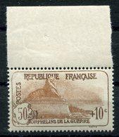 RC 10649 FRANCE N° 230 - 50c + 10c ORPHELINS BORD DE FEUILLE COTE 95€ NEUF ** - France