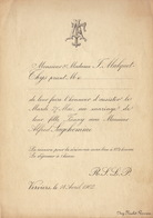 Mariage Mulquet Thijs - Sagehomme Verviers 1902 - Mariage