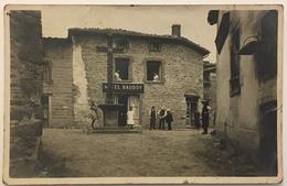 Carte Photo. Hôtel Baudoy. Place Avec Croix. Monument. À Situer. - Hotels & Restaurants