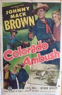 """AFFICHE ORIGINALE """"COLORADO AMBUSH"""" 1951 Johnny McBrown - Manifesti & Poster"""