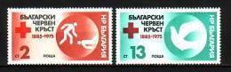 BULGARIA \ BULGARIE - 1975 - 90an. Bulgaren Red Cross   -  2v** - Bulgarie