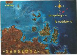 V3196 Sardegna - Arcipelago Della Maddalena - Carta Geografica Map Carte Geographique / Non Viaggiata - Carte Geografiche
