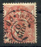 RC 10651 FRANCE N° 109 BLANC 3c ORANGE FONCÉ OBL. IMPRIMÉS PP25 TB - 1900-29 Blanc