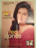 Affiche Rare & Numérotée 1993 Tea Dance Poster Dalida C. 42 X 60 Cm - Affiches