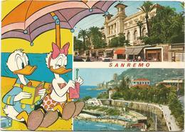 V3197 Sanremo (Imperia) - Walt Disney - Paolino Paperino Donald Duck - Paperina Daisy Duck / Non Viaggiata - Disney