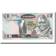 Billet, Zambie, 1 Kwacha, Undated (1980-88), KM:23a, NEUF - Zambie