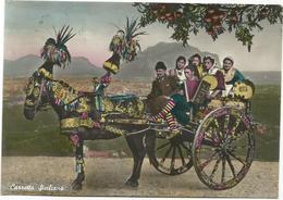 V3199 Sicilia - Palermo - Carretto Siciliano - Folklore / Viaggiata 1958 - Costumes