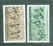 DDR  Yvert  164/165   * *  B/TB   Cyclisme - [6] République Démocratique