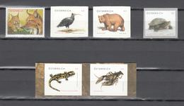 Austria 2006++,6V,bird,bear,lizzard,lobster,turtle,lynx,different Animals,MNH/Postfris(A3592) - Vogels