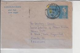 Sri Lanka Airmail Cover To Pakistan, Stamps, Aerogram, Aircraft Map         (A-667) - Sri Lanka (Ceylon) (1948-...)