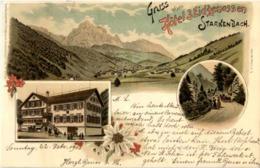 Gruss Vom Hotel 3 Eidgenossen - Starkenbach - Litho - SG St. Gall
