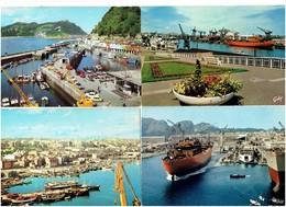 Lot 4 Cpm - NANTES SAN SEBASTIAN LA CIOTAT Lancement D'un Navire TARRAGONA Port Maritime Bateau Grue Camion Voiture - Cargos