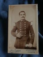 Photo CDV  Tajan à Toulouse  Militaire 17e  Service Administratif  Belle Moustache - L403B - Oud (voor 1900)