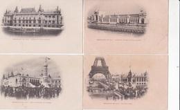 EXPOSITION DE 1900 PARIS LOT DE 8 CPA DOS SIMPLE ACHAT IMMEDIAT - Expositions