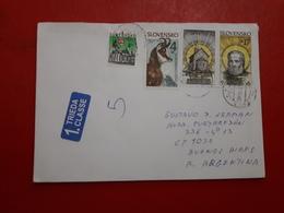 La Slovaquie Enveloppe Circulé Avec Timbre De Religion Une Faune Et Les Autres - Eslovaquia