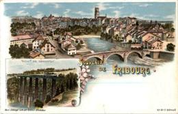 Souvenir De Fribourg - Litho - FR Freiburg