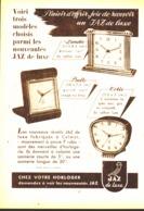 """PUB REVEIL  ( LANDIC - BALIC - COTIC  )  """" JAZ  """"  1952 - Bijoux & Horlogerie"""