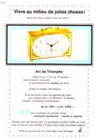 """PUB PENDULETTE REVEIL   ( ARC DE TRIOMPHE  )  """" JAZ  """"  1965 - Altri"""