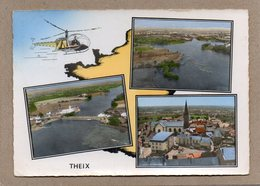 CPSM Dentelée - THEIX (56) - Carte De Multi-vues Aérienne à L'hélicoptère De 1967 - Altri Comuni