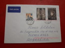 La Slovaquie Enveloppe Circulé Avec Timbre Minéraux Et Autres, Et Une Vignette D'oiseaux - Slovaquie