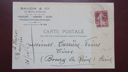 Carte Commerciale Bauzin & Cie Le Havre Perforé B&C 73  (catalogue Ancoper ) 1923 - France