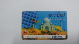 India-ex-cel. Top Up-card-(27k)-(rs.100)-(3.9.2008)-(jaipur)-card Used+1 Card Prepiad Free - India