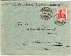 Schweiz 1908, Bahnpost Stpl. AMBULANT No. 22 Auf Brief V. Leutwil N. Aarwangen - Svizzera