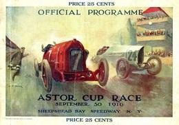 Car Automobile Grand Prix Postcard Sheepshead Bay Astor 1916 - Reproduction - Publicité
