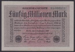 Reichsbanknote 50 Millionen - Rosenberg 108 Mit FZ: 8B - [ 3] 1918-1933 : Repubblica  Di Weimar