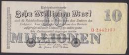 Reichsbanknote 10 Millionen Vom 25.7.1923 - Rosenberg 95 Mit FZ: B - 1918-1933: Weimarer Republik