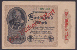 Reichsbanknote 1 Milliarde Vom 15.12.1922 - Rosenberg 110 Mit FZ: 14J - 1 Milliarde Mark