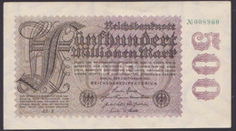 Reichsbanknote 500 Millionen Vom 1.9.1923 - Rosenberg 109 - [ 3] 1918-1933 : République De Weimar