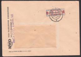 ZKD-Brief B21L BERLIN O17 VEB Kabelwerk Oberspree ZKD-Nr. 161, Vom 8.10.58, Billett-Wertstreifen - Service