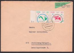 Olympische Spiele Tokio 1964 DDR  W Zd 126 Wassersport Und Springreiten Fernbrief Portogenau - [6] République Démocratique