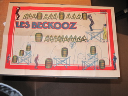 LES BECKOOZ - AFFICHES NICOLITCH - MARSEILLE RUE MARLIM 7 Circa 1900 - Sauts Sur Tonneaux - Affiches