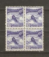 Suisse 1936 - Chutes Du Rhin - 295 - Bloc De 4 MH - Suisse