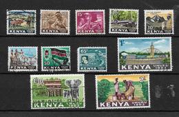 Kenya 1963 Independence, Complete Set Used To 2/- (7314) - Kenya (1963-...)