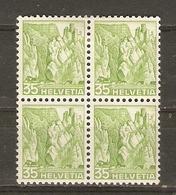 Suisse 1936 - Gorges De Lobisei Et Ruines Du Château Falkenstein - Bloc De 4 MH - 296 - Suisse