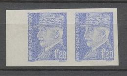 Pétain, Paire 1f. 20 Bleu Clair N**, NON EMIS ND Bdf (Dallay N° 535a) X4523 - Variétés Et Curiosités