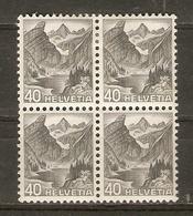 Suisse 1936 - Seealpsee - Bloc De 4 MH - 297 - Suisse