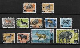 Kenya 1966 Wildlife Selection To 1s30 Used Plus 15c & 40 C MNH (7315) - Kenya (1963-...)