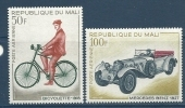 "Mali Aerien YT 60 & 61 (PA) "" Bicyclette Et Automobile "" 1968 Neuf** - Mali (1959-...)"