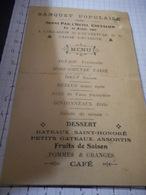 Banquet Populaire 1910 , Sur Carton - Menus