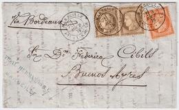 """1876, Lettre """" MARSEILLE """" Pour Argentine , #a1517 - 1849-1876: Classic Period"""