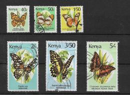 Kenya 1988 Butterflies Selection To 5s Used (7317) - Kenya (1963-...)