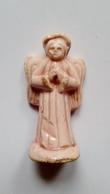Fève Ancienne Santon Ange Rose Biscuit 4cm - Olds