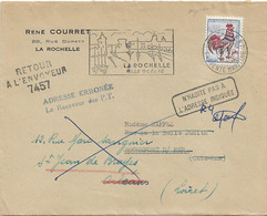 RETOUR ENVOYEUR 7457 ST JEAN DE BRAYE LOIRET NUMERO BLANC - 1961-....