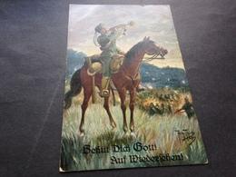 BEHUET DICH GOTT ! - ARTH. THIELE - FELDPOST - 19.8.15 Von PADERBORN Nach SENNEWALDE NIEDERLAUSITZ - Weltkrieg 1914-18