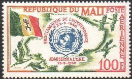"""Mali Aerien YT 11 (PA) """" Admission ONU """" 1961 Neuf** - Mali (1959-...)"""