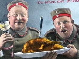 SO LEBEN WIR ! - FELDPOST - 16.5.16 - Von NEUMUENSTER Nach GROSSBUCHWALD - Weltkrieg 1914-18